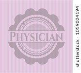 physician pink emblem | Shutterstock .eps vector #1059024194