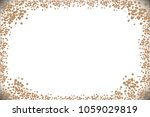 the sand is brown on a white...   Shutterstock .eps vector #1059029819