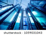 window profile cut of metal ... | Shutterstock . vector #1059031043