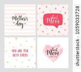 vector set of square cards for... | Shutterstock .eps vector #1059033728