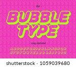 bubble type modern typography... | Shutterstock .eps vector #1059039680