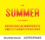 vector summer colorful font... | Shutterstock .eps vector #1059039683