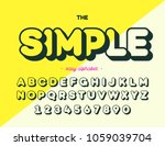 simple font modern typography.... | Shutterstock .eps vector #1059039704