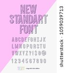new standart font modern...   Shutterstock .eps vector #1059039713