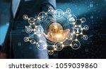 blockchain technology and... | Shutterstock . vector #1059039860