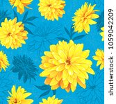 seamless pattern with flowers... | Shutterstock .eps vector #1059042209