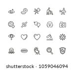 medical research icons. set of... | Shutterstock .eps vector #1059046094