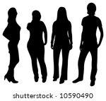 vector people silhouette | Shutterstock .eps vector #10590490