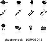 grilling icons | Shutterstock .eps vector #105905048