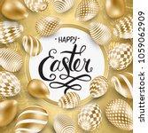 happy easter lettering... | Shutterstock .eps vector #1059062909