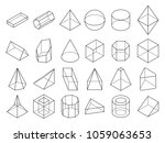 abstract isometric 3d geometric ... | Shutterstock . vector #1059063653