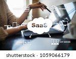 saas  software as a service.... | Shutterstock . vector #1059066179