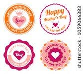 mother day vector label for... | Shutterstock .eps vector #1059066383