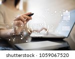 crm. customer relationship... | Shutterstock . vector #1059067520