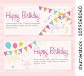 happy birthday background.... | Shutterstock .eps vector #1059068060