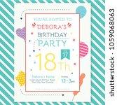 happy birthday invitation flyer | Shutterstock .eps vector #1059068063