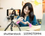 influencer marketing live video ... | Shutterstock . vector #1059070994