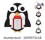 black and white penguin... | Shutterstock .eps vector #1059073118