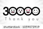 thank you 30000 followers... | Shutterstock .eps vector #1059073919
