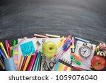 on the school board  school... | Shutterstock . vector #1059076040