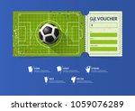 football or soccer ticket... | Shutterstock .eps vector #1059076289