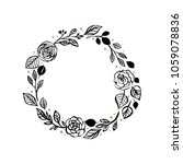 floral rustic rose wreath for... | Shutterstock .eps vector #1059078836