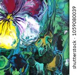 pansy flower. abstract acrylic... | Shutterstock . vector #1059080039