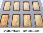 financier cakes  french snack. | Shutterstock . vector #1059080336