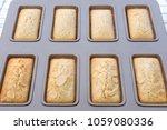 financier cakes  french snack. | Shutterstock . vector #1059080336