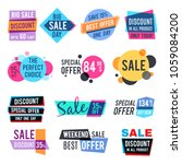 fashion design pricing tags and ... | Shutterstock . vector #1059084200