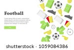 vector background with soccer... | Shutterstock .eps vector #1059084386