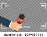 background with camera frame... | Shutterstock . vector #1059087368