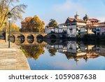 the historic roman bridge of...   Shutterstock . vector #1059087638