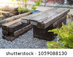 recycle wooden chair made of... | Shutterstock . vector #1059088130