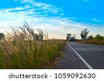 lawn grass on the road is... | Shutterstock . vector #1059092630