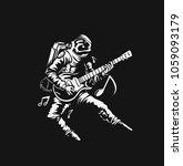 astronaut in playing guitar ...   Shutterstock .eps vector #1059093179