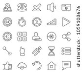 thin line icon set   hand... | Shutterstock .eps vector #1059103676