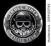 skull rider racing team badge... | Shutterstock .eps vector #1059103763