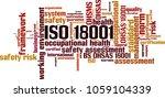 iso 18001  word cloud concept.... | Shutterstock .eps vector #1059104339