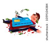 credit card hitting over... | Shutterstock .eps vector #1059104384