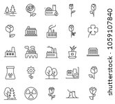 thin line icon set   factory... | Shutterstock .eps vector #1059107840
