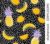 beautiful hand sketch summer... | Shutterstock .eps vector #1059110390