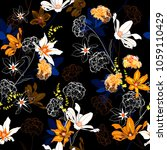 trendy seamless pattern vector...   Shutterstock .eps vector #1059110429