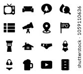 solid vector icon set   tv... | Shutterstock .eps vector #1059110636