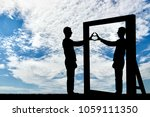 silhouette of a narcissist man...   Shutterstock . vector #1059111350