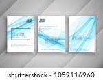abstract blue wavy business... | Shutterstock .eps vector #1059116960