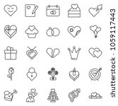 thin line icon set   rose... | Shutterstock .eps vector #1059117443