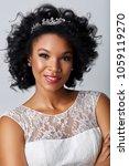 beautiful dark skin bride | Shutterstock . vector #1059119270