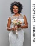 beautiful dark skin bride | Shutterstock . vector #1059119273