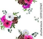 beautiful colorful pastel... | Shutterstock .eps vector #1059125969